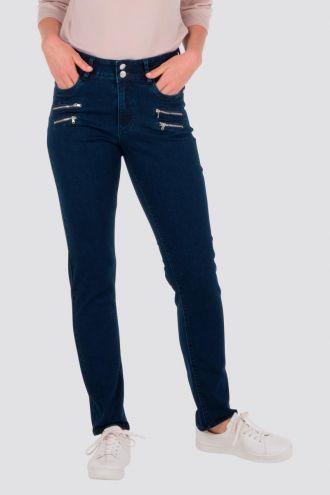 Siri jeans med glidelåser