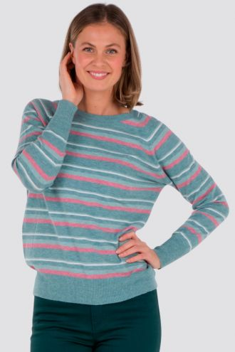 Alva stripet genser